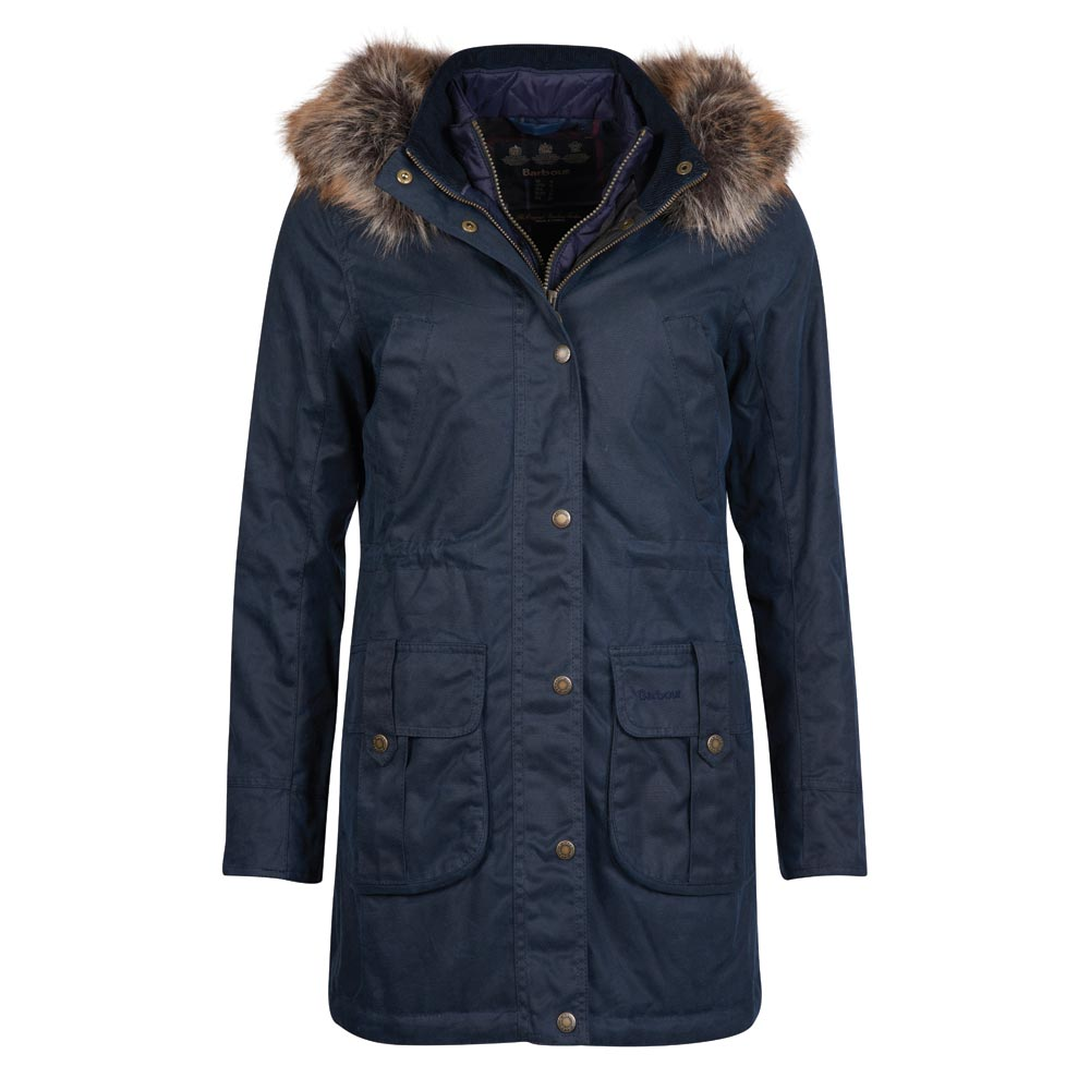 Dames waxjas Homeswood navy