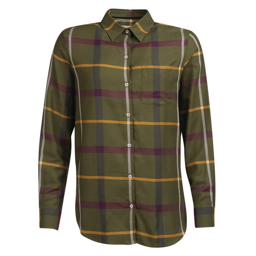 Damesblouse Oxer Check olive