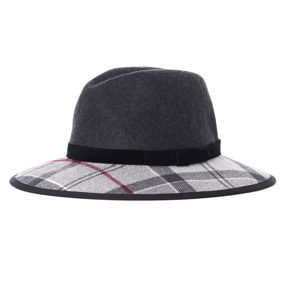 Dameshoed Thornhill Fedora Charcoal