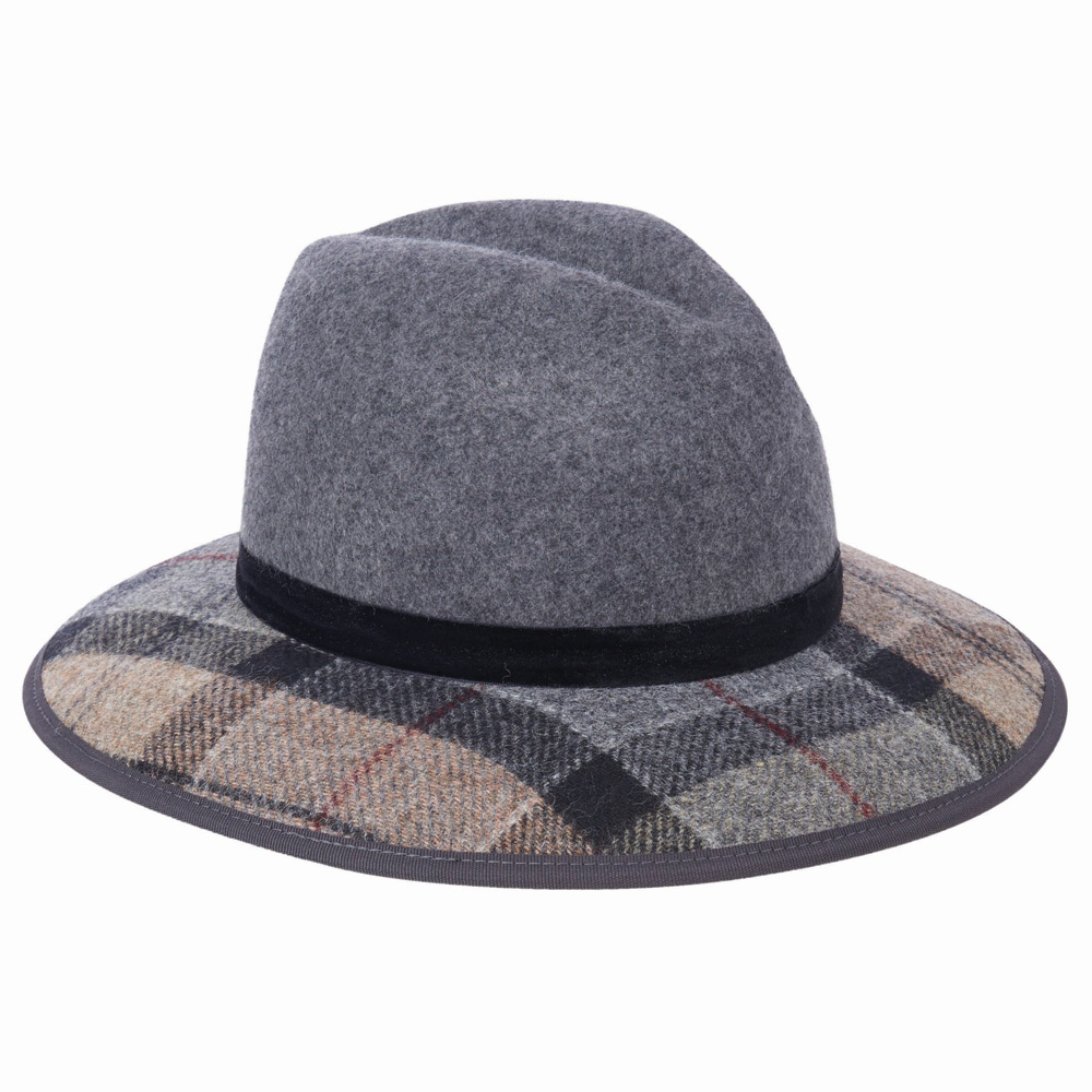 Dameshoed Thornhill Fedora Grijs