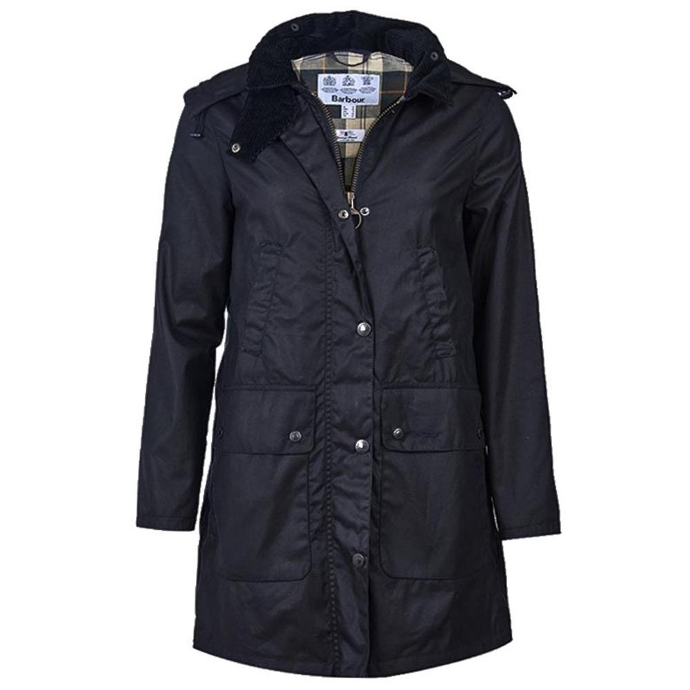 Damesjas Border wax jacket Navy