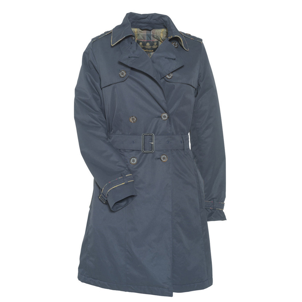 Damesjas Chatsworth Trench Navy