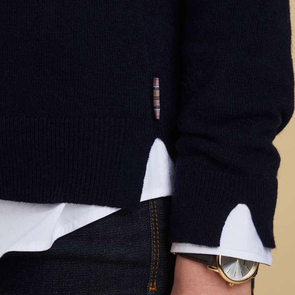 Damestrui Mill Roll Collar Navy