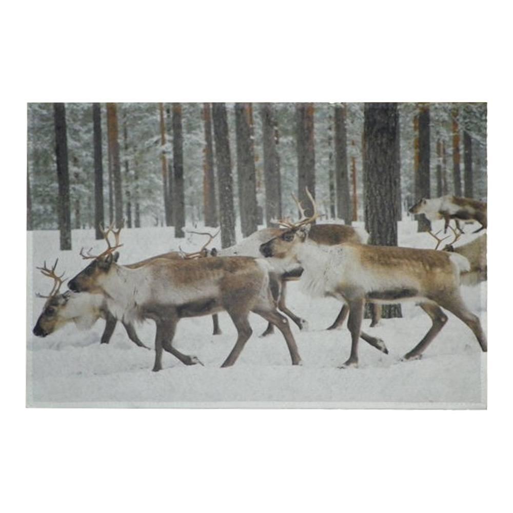 Deurmat Herten in de sneeuw