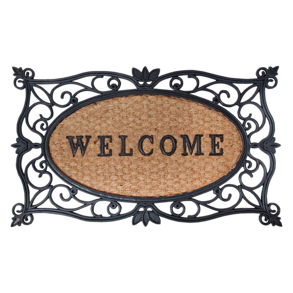 deurmat rubber/kokos welcome