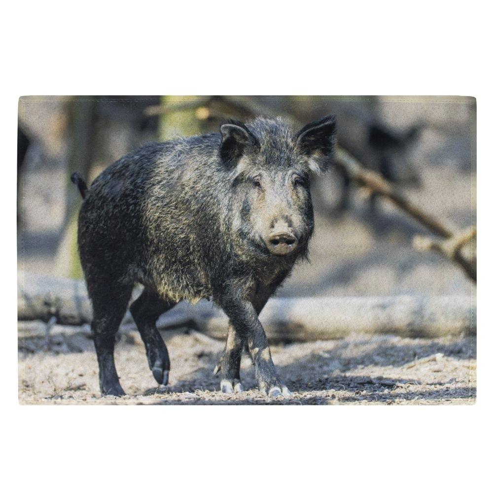 Deurmat zwart wild zwijn