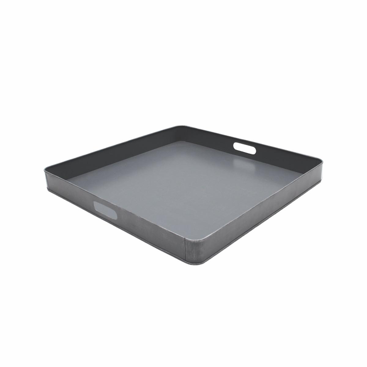 Tray - Antiek grijs - Metaal - 75 cm
