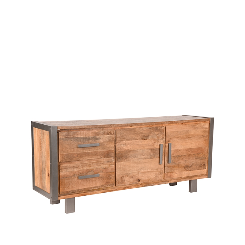 Dressoir Factory - Rough - Mangohout - 180 cm