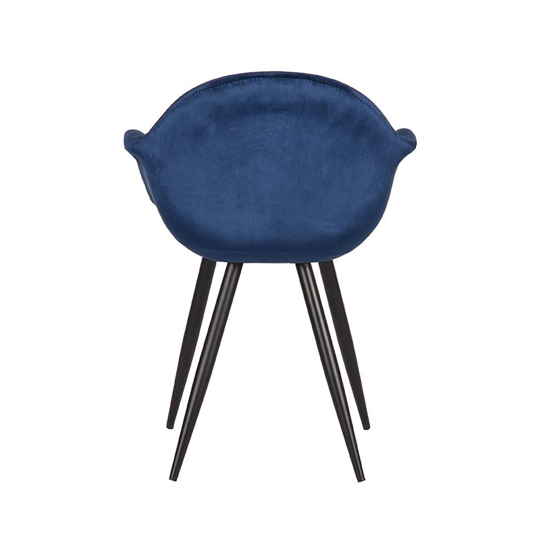 Eetkamerstoel Forli - Blauw - Fluweel