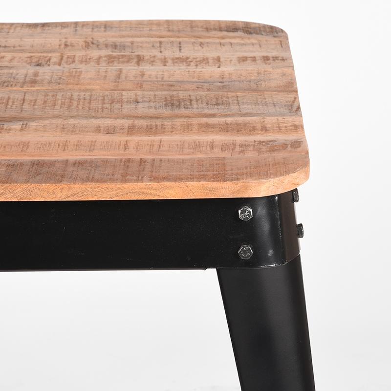 Eetkamertafel Liege - Zwart - Metaal - 75x75 cm
