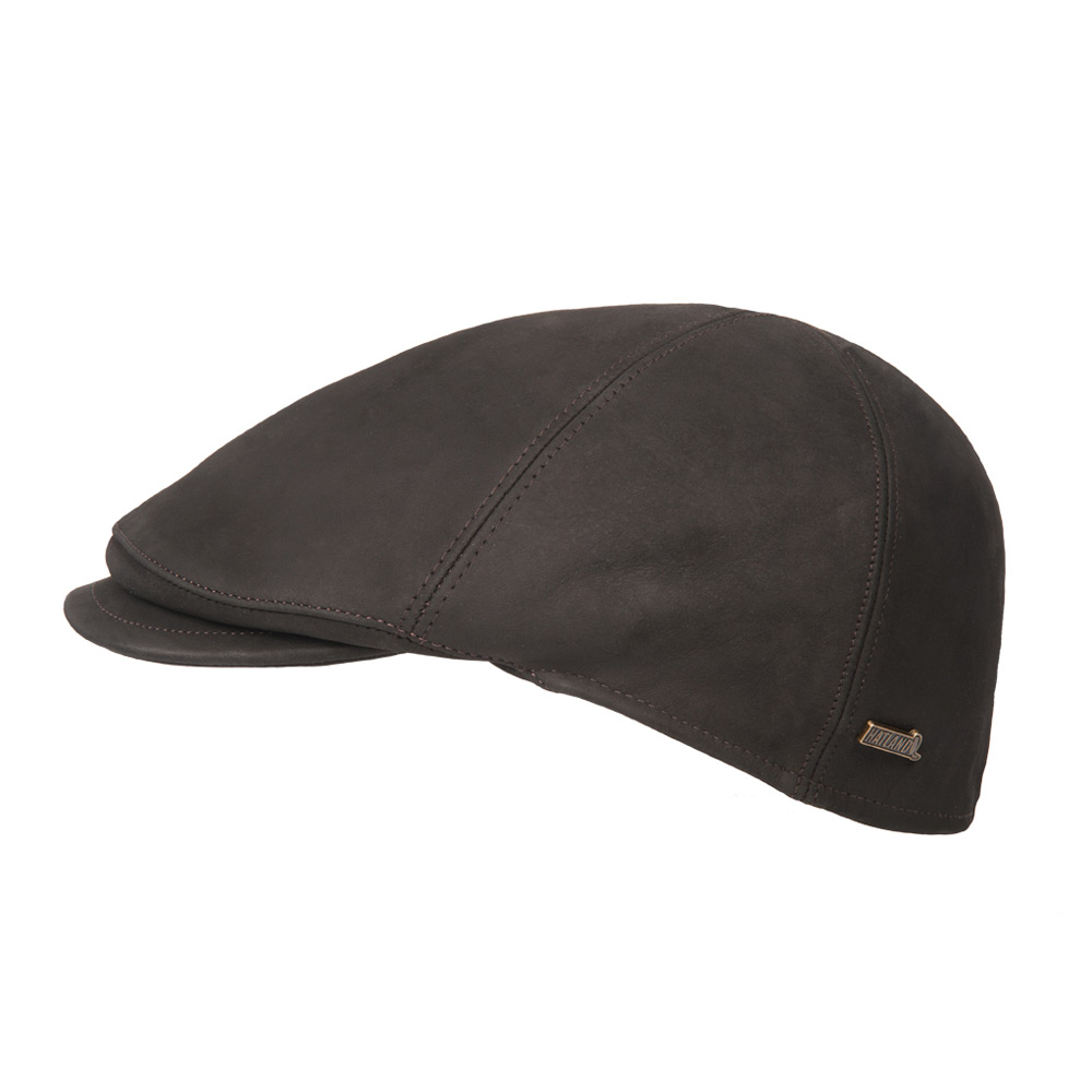 Flatcap Maiko Leather black