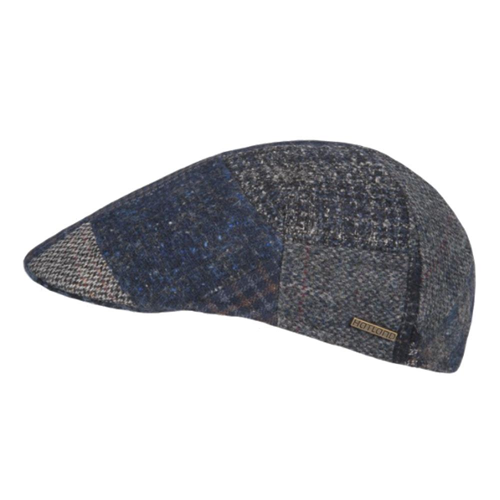 Flatcap wedge wool navy