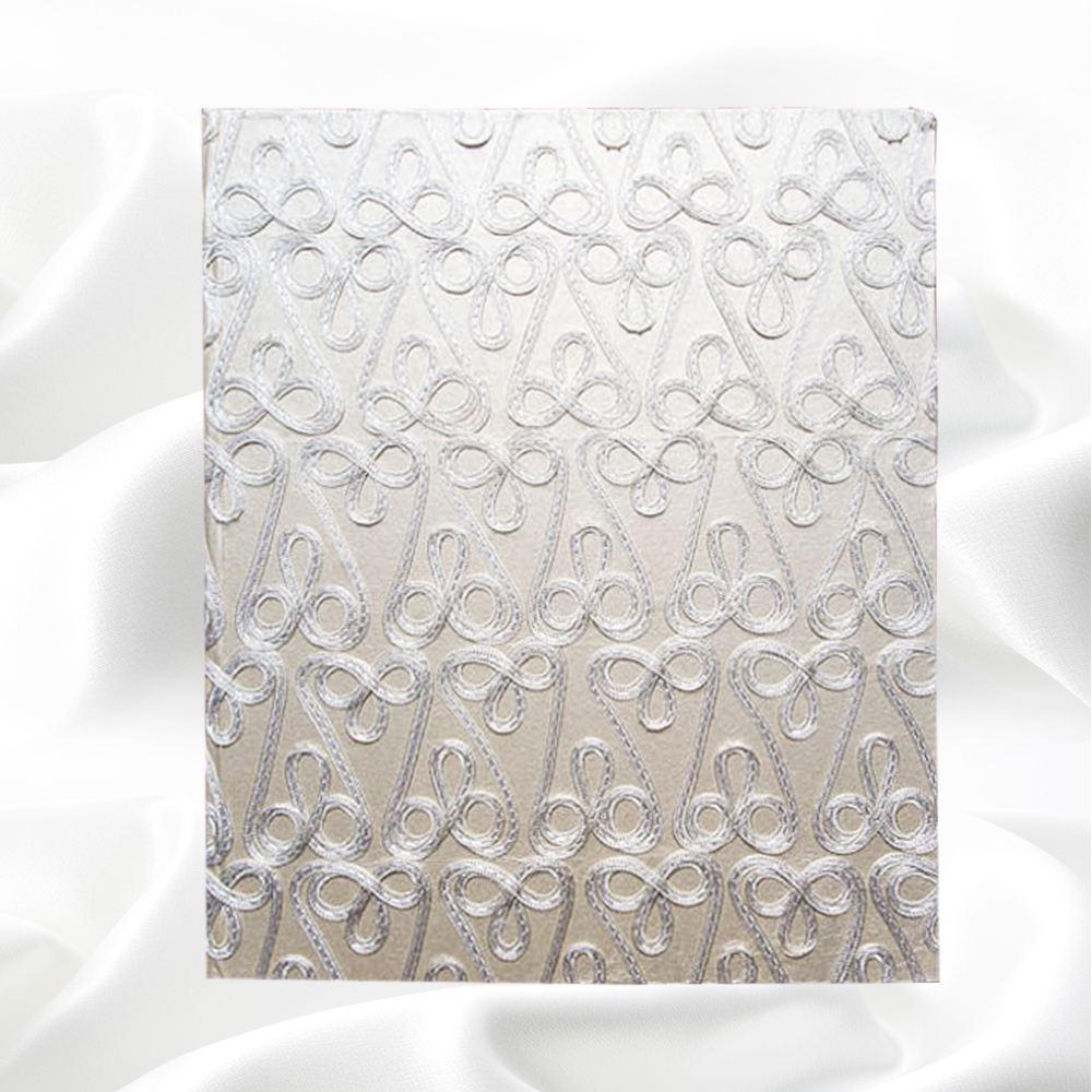 Fotoboek langwerpig met borduursel
