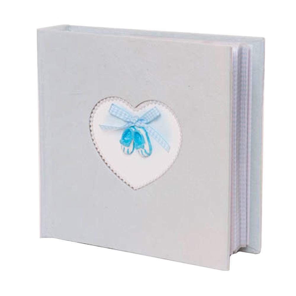 Fotoboek met schoentjes blauw