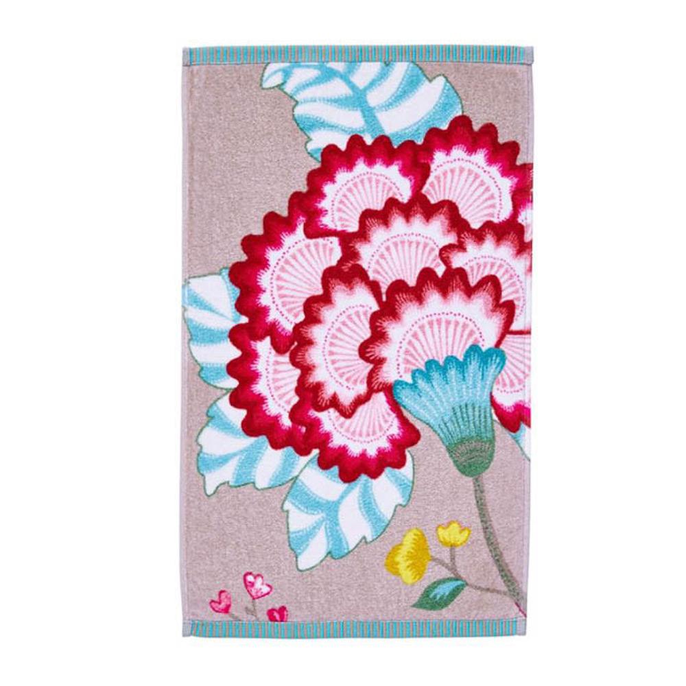 Gastendoekje Floral Fantasy khaki