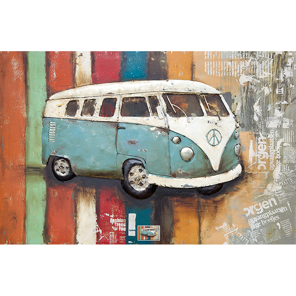 Gave Special 3D Art VW bus blauw
