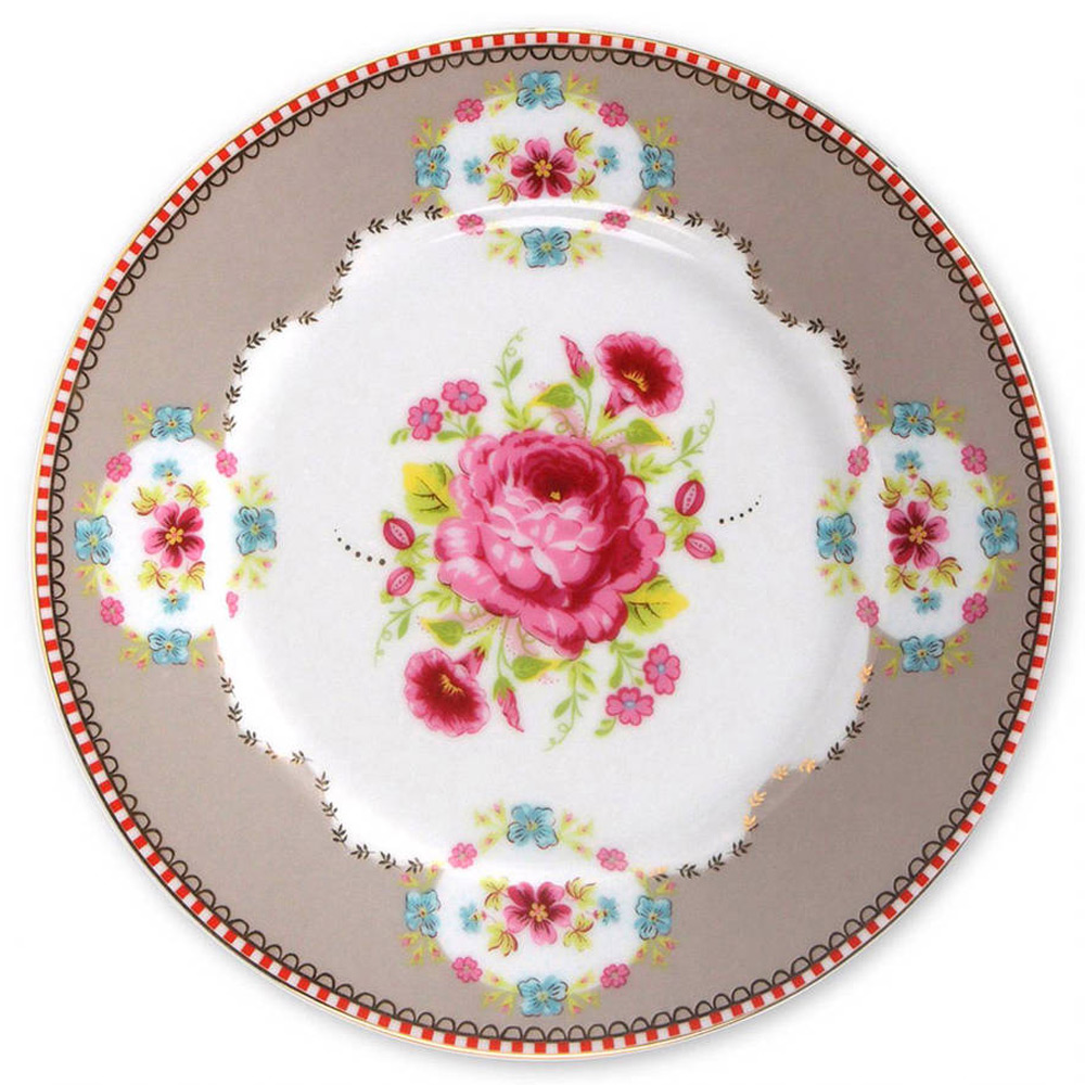 Gebaksbord Rose Khaki 17 cm