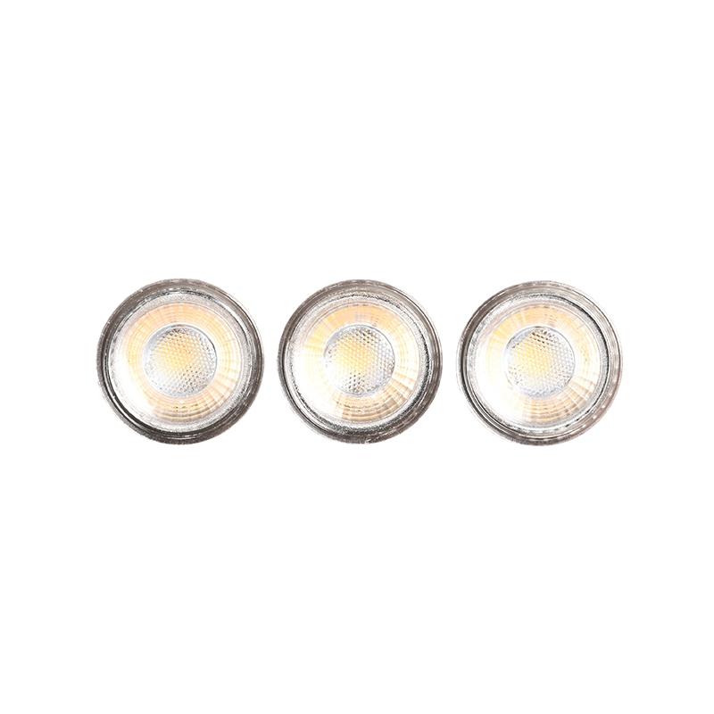 Lichtbron GU10 3 Stuks - Glas