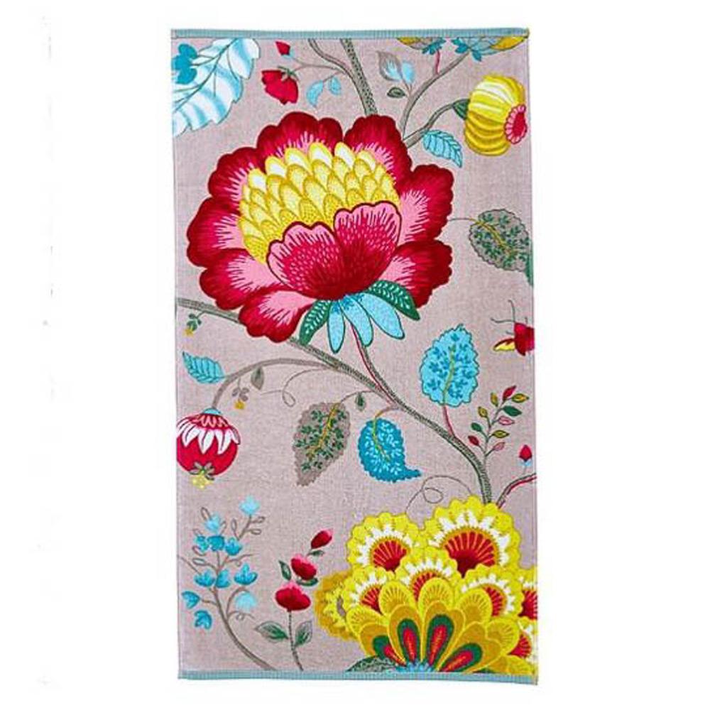Handdoek Floral Fantasy khaki