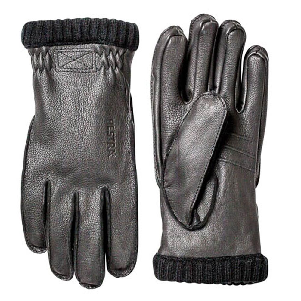 Handschoen Deerskin Primaloft Rib zwart