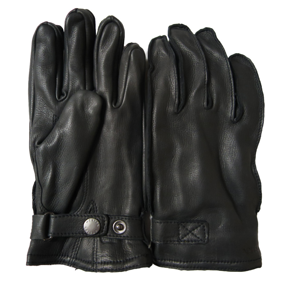 Handschoen deerskin wool terry black
