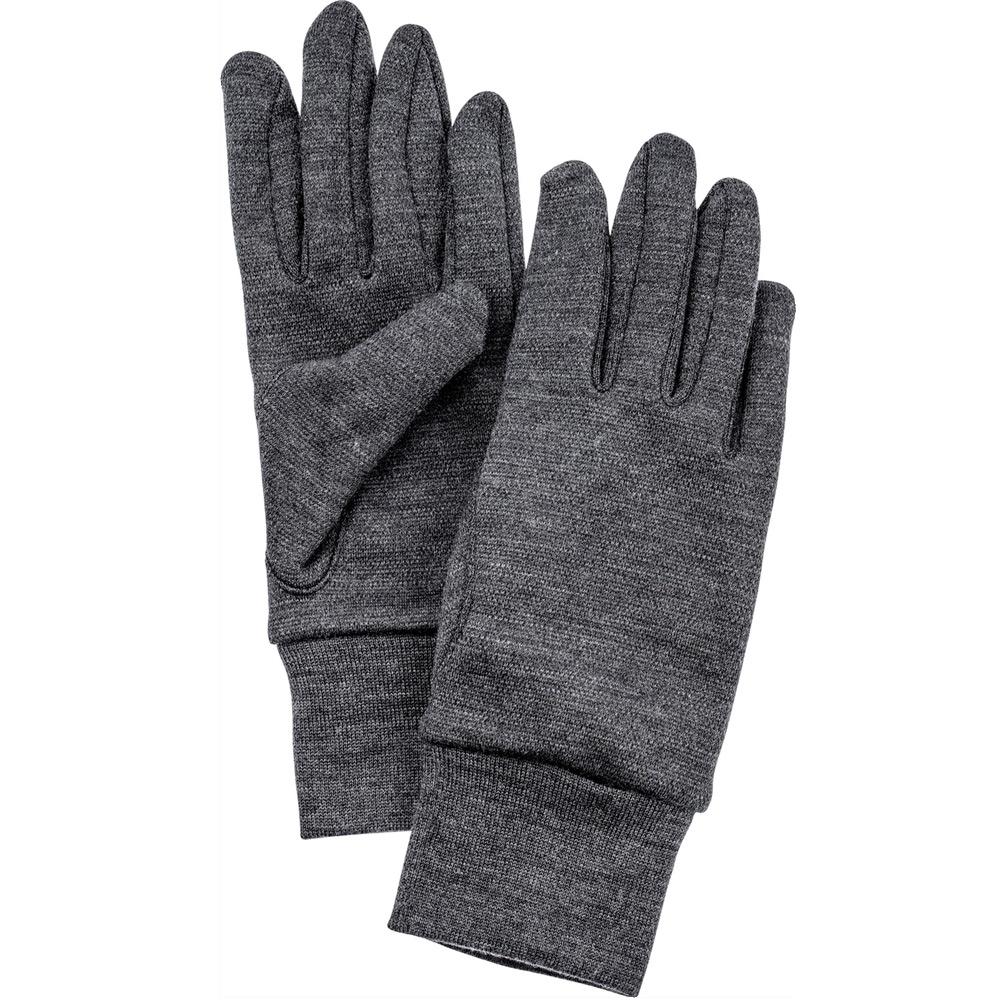 Handschoen heavy merino grijs