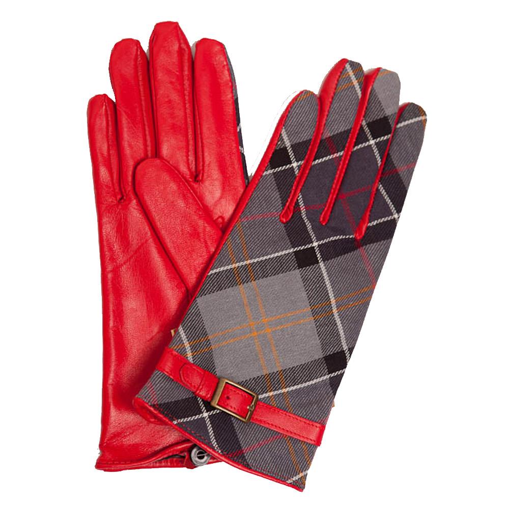 Handschoenen Valerie Tartan Rood/Muted