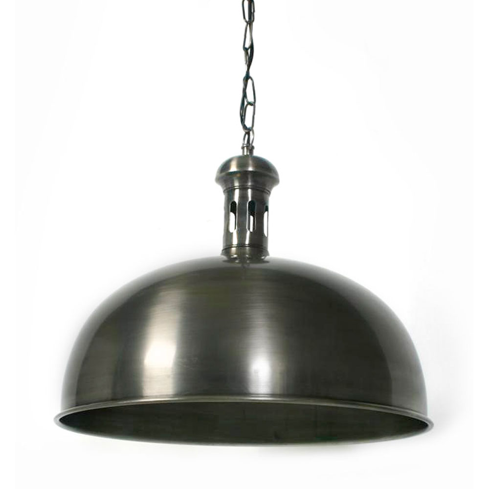 Hanglamp Bowl tin antiek M