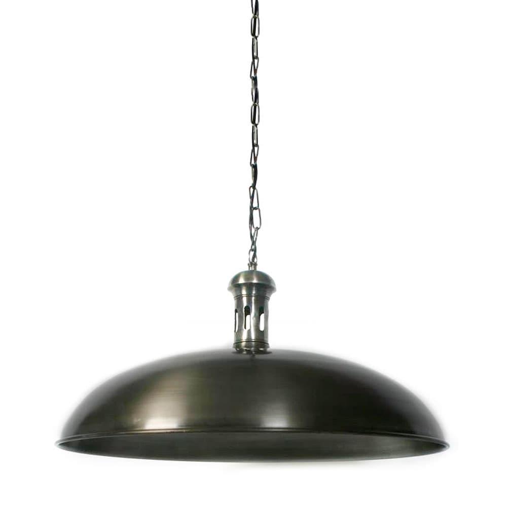 Hanglamp Bowl tin antiek XL