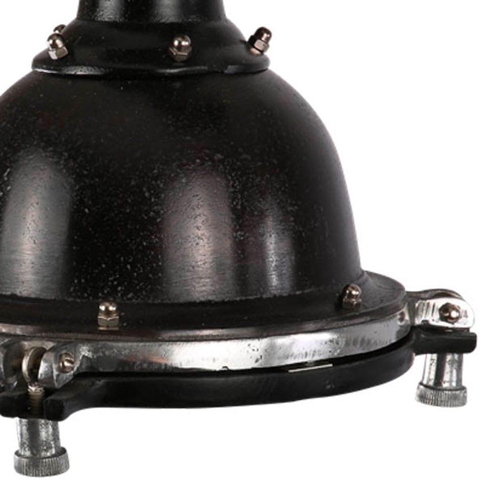 Hanglamp Toscane 20 cm, zwart ruw nickel