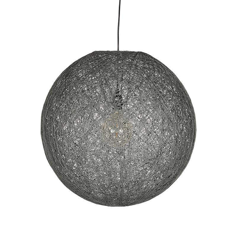 Hanglamp Twist - Grijs - Vlas - XL
