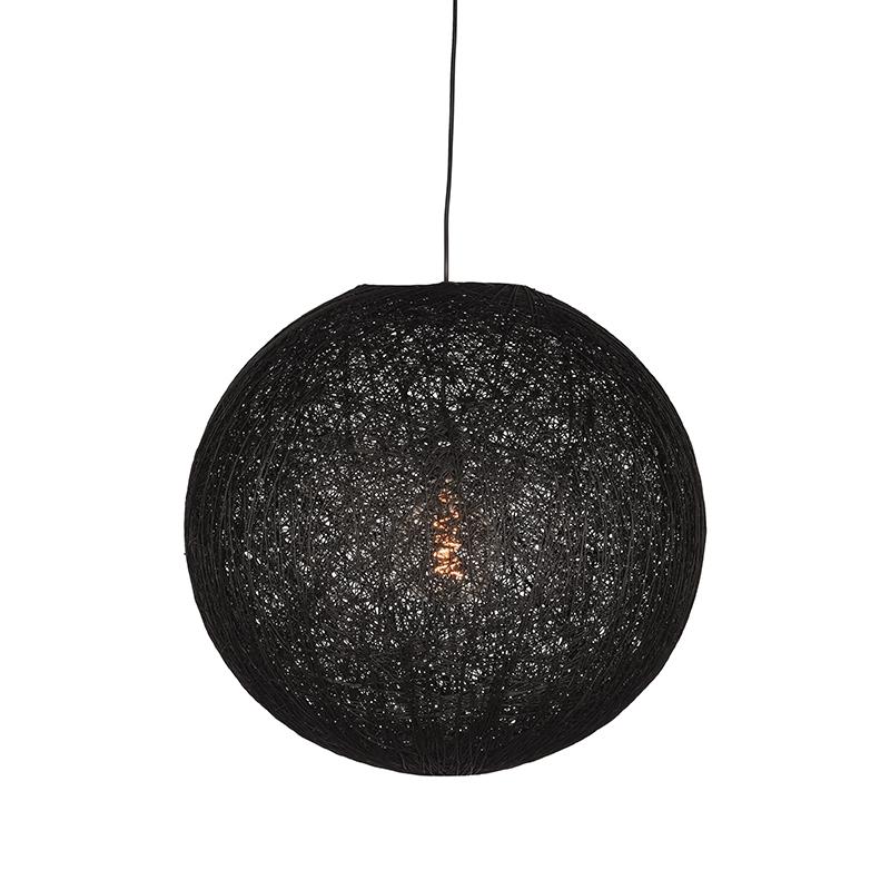 Hanglamp Twist - Zwart - Vlas - L