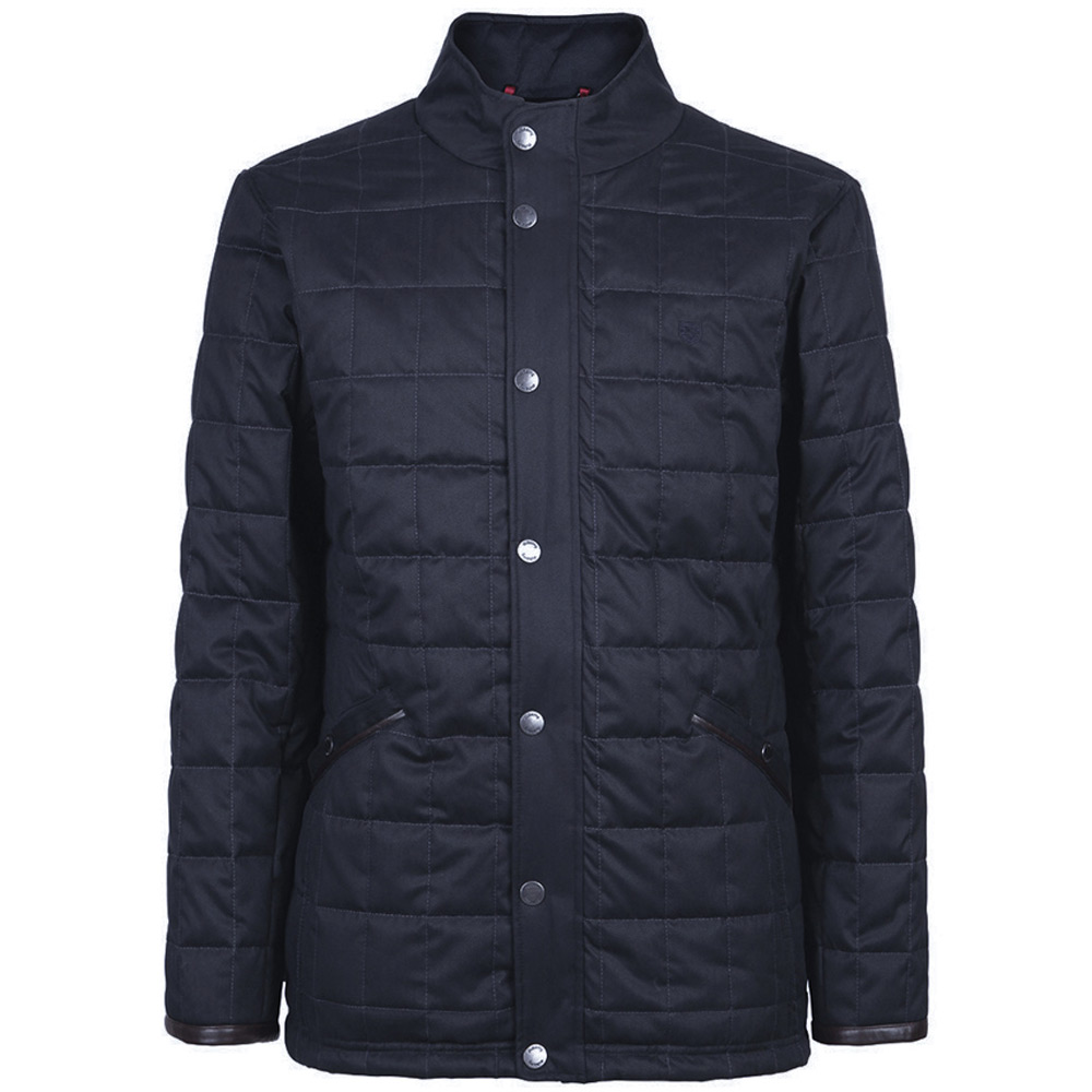 Heren quiltjas Beckett navy