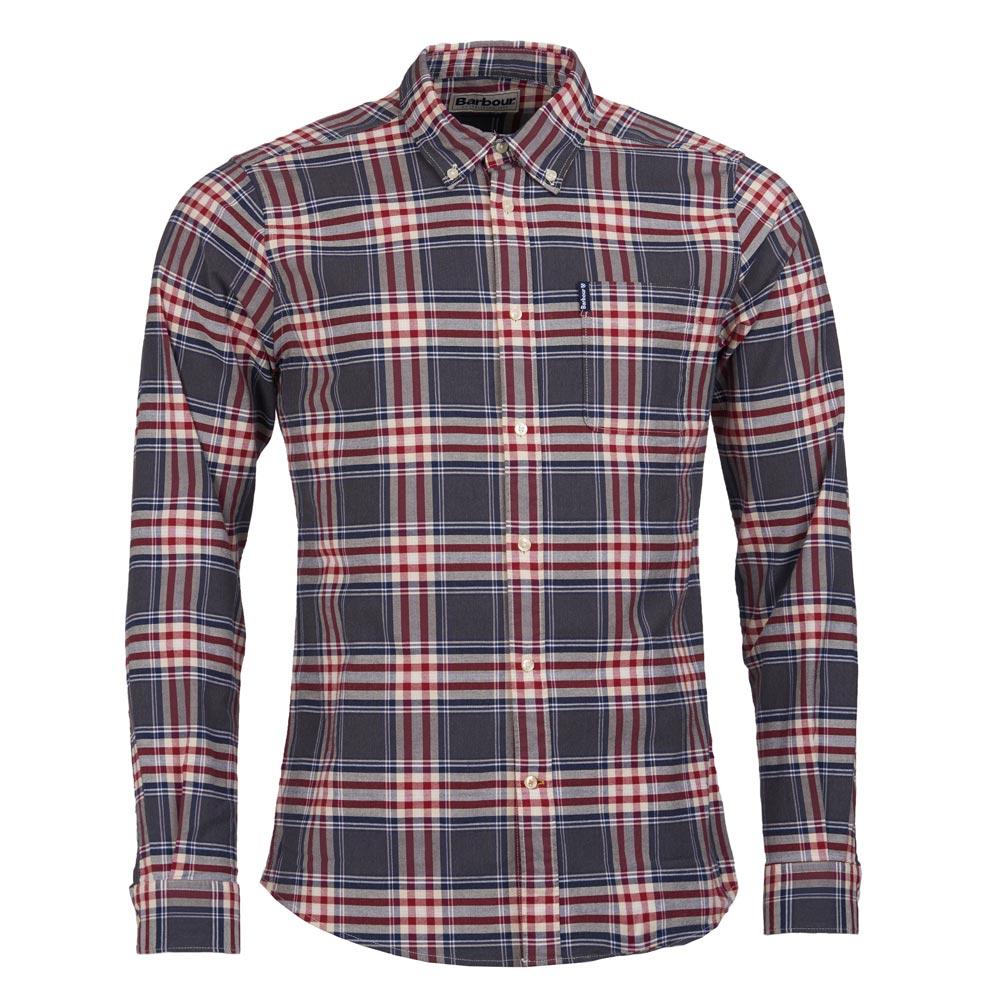 heren shirt highland check 11 tailored grey marl