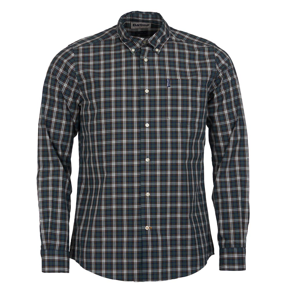 heren shirt highland check 8 tailored green