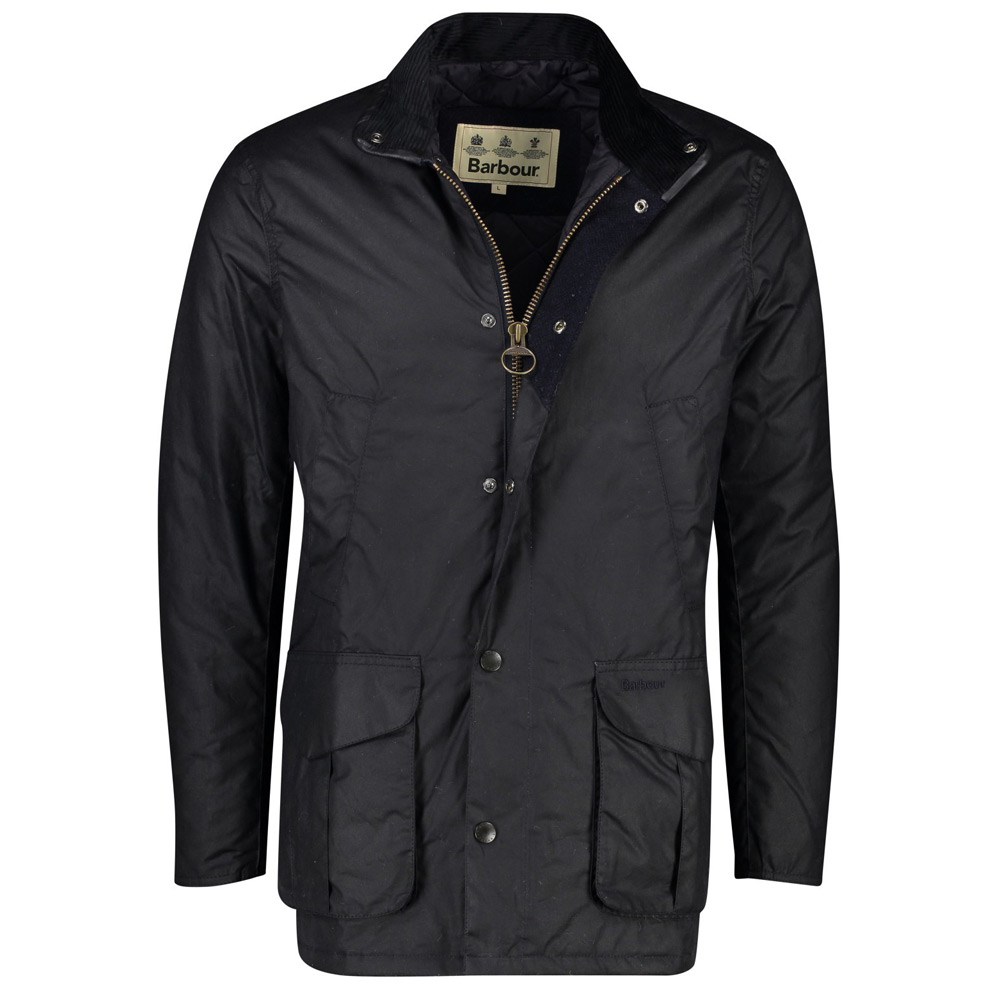 Heren waxjas Ashby navy