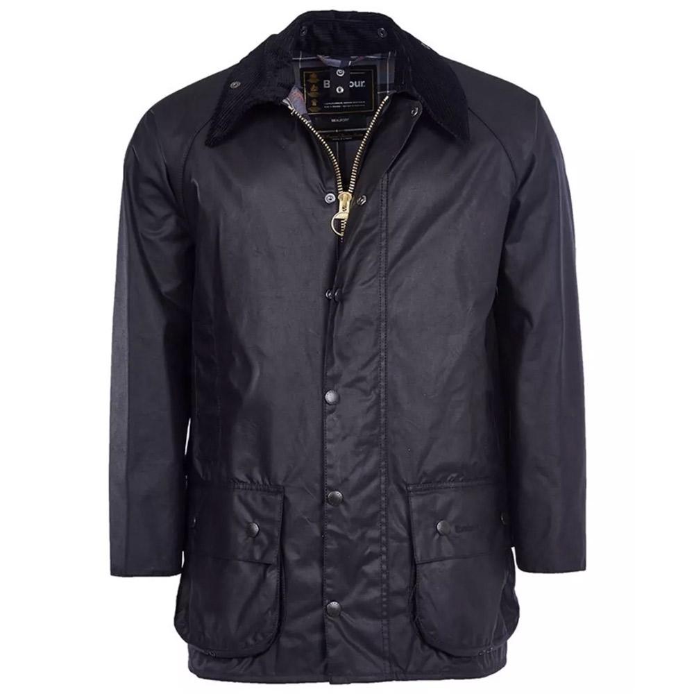 Heren waxjas Beaufort jacket Black SALE