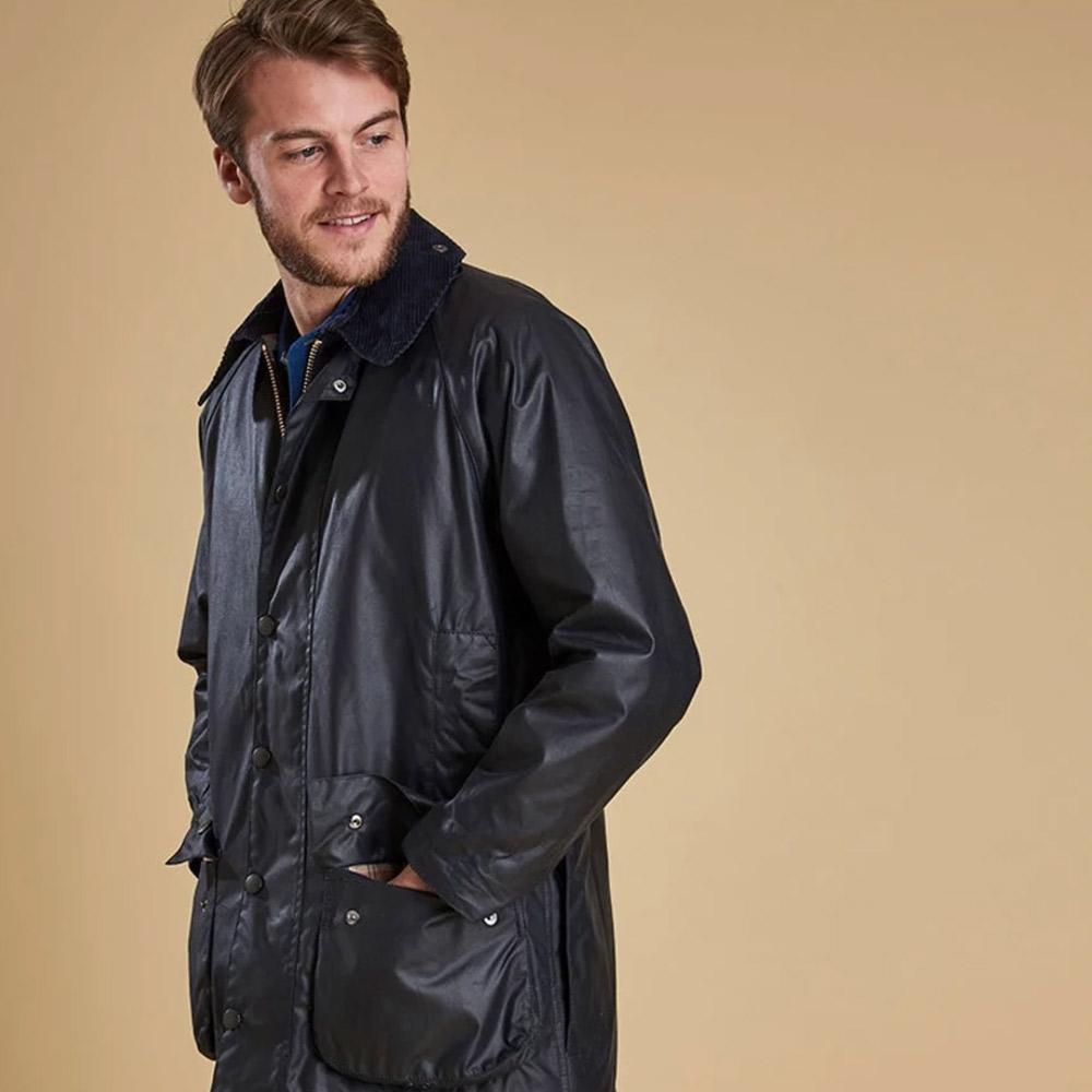 Heren waxjas Beaufort jacket Navy