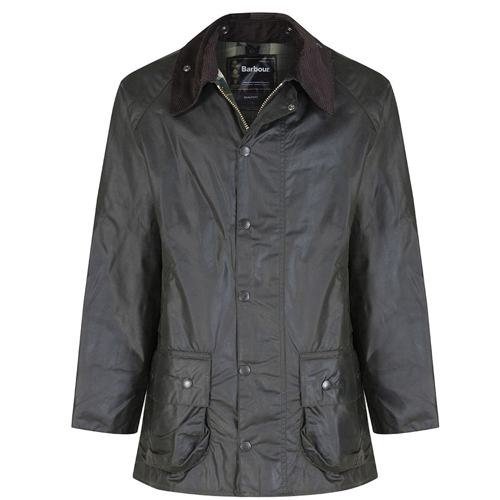 Heren waxjas Beaufort jacket Sage