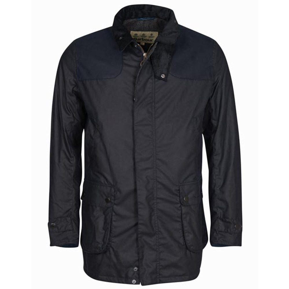 Heren waxjas Cartmel Jacket Wax navy