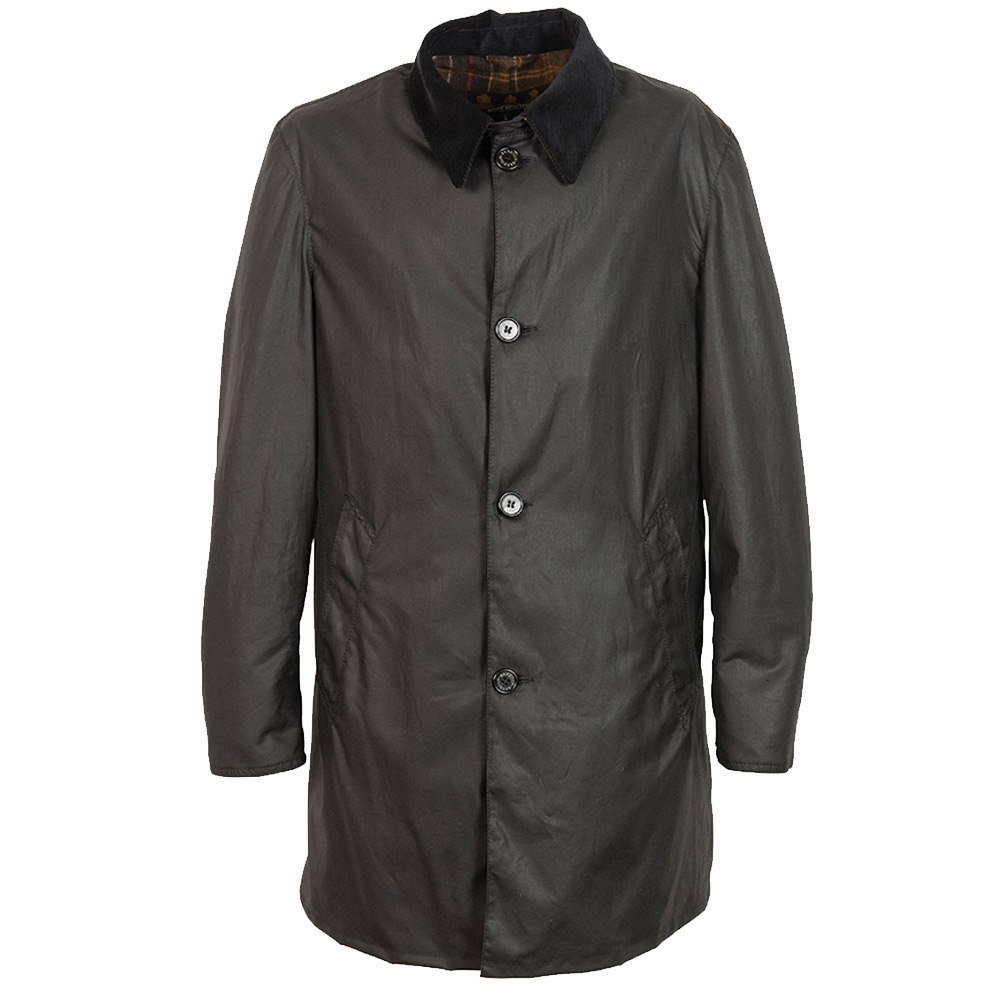 Heren waxjas Coater Zwart