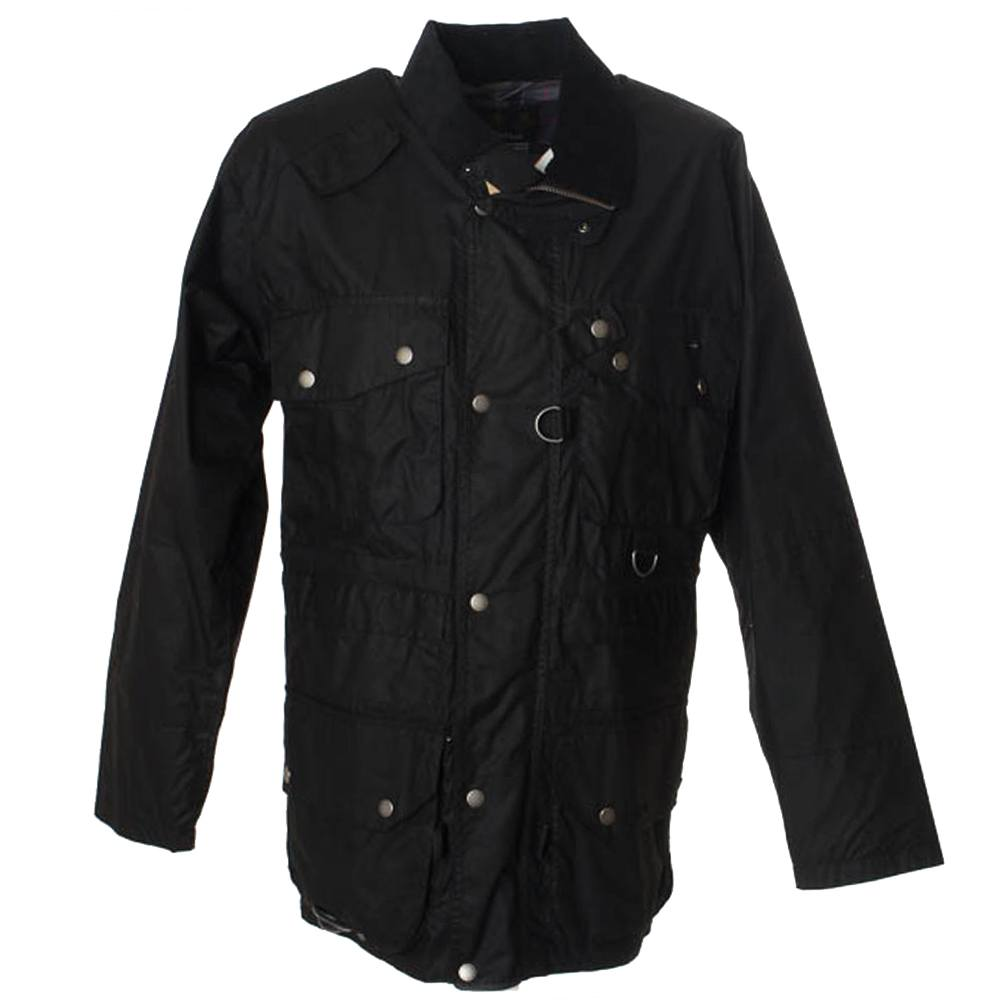 Heren waxjas Dryfly Jacket Zwart
