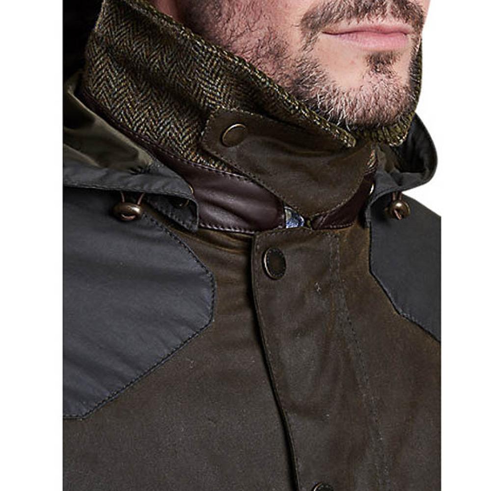 Heren waxjas Hales Jacket Olive