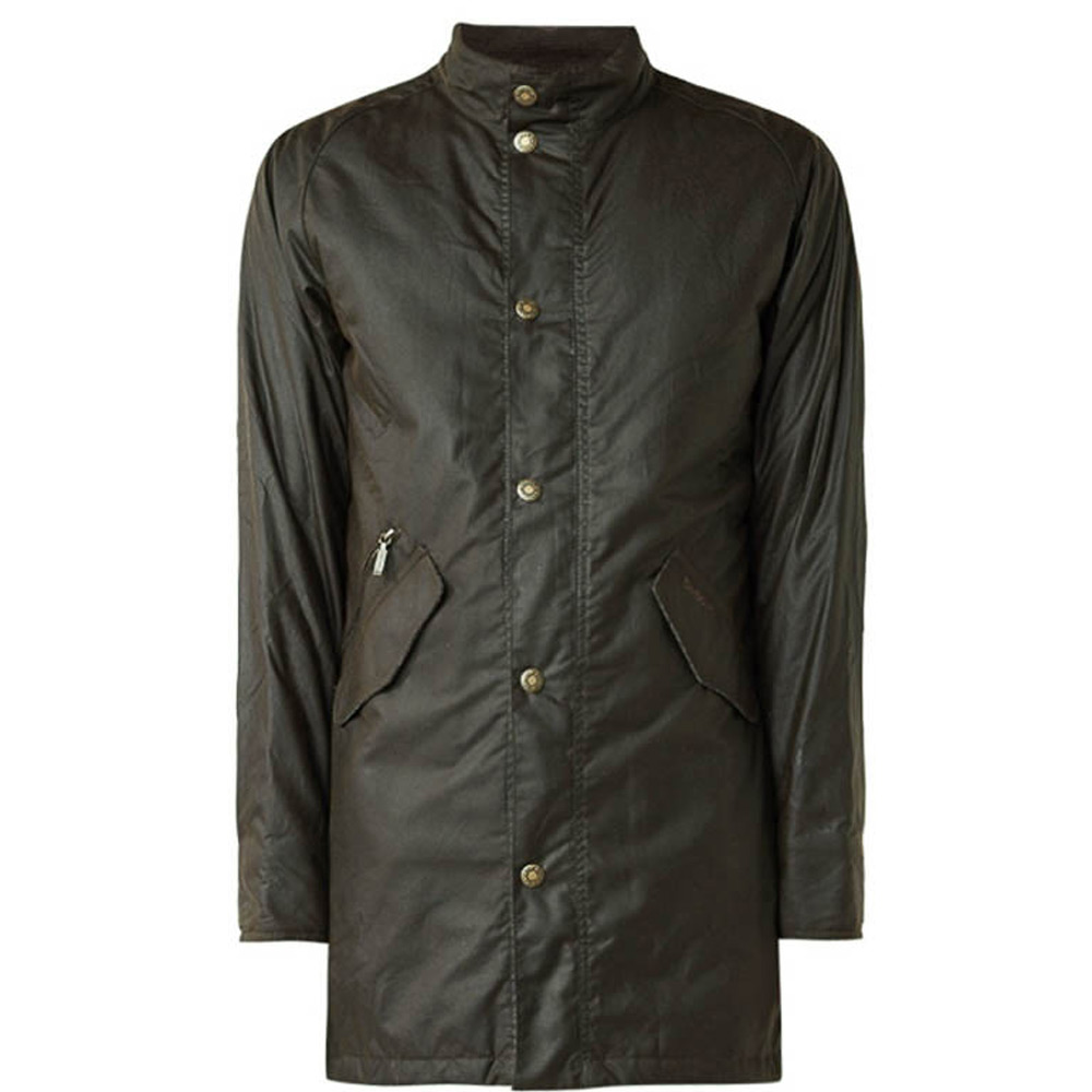 Heren waxjas Hall Jacket Olive