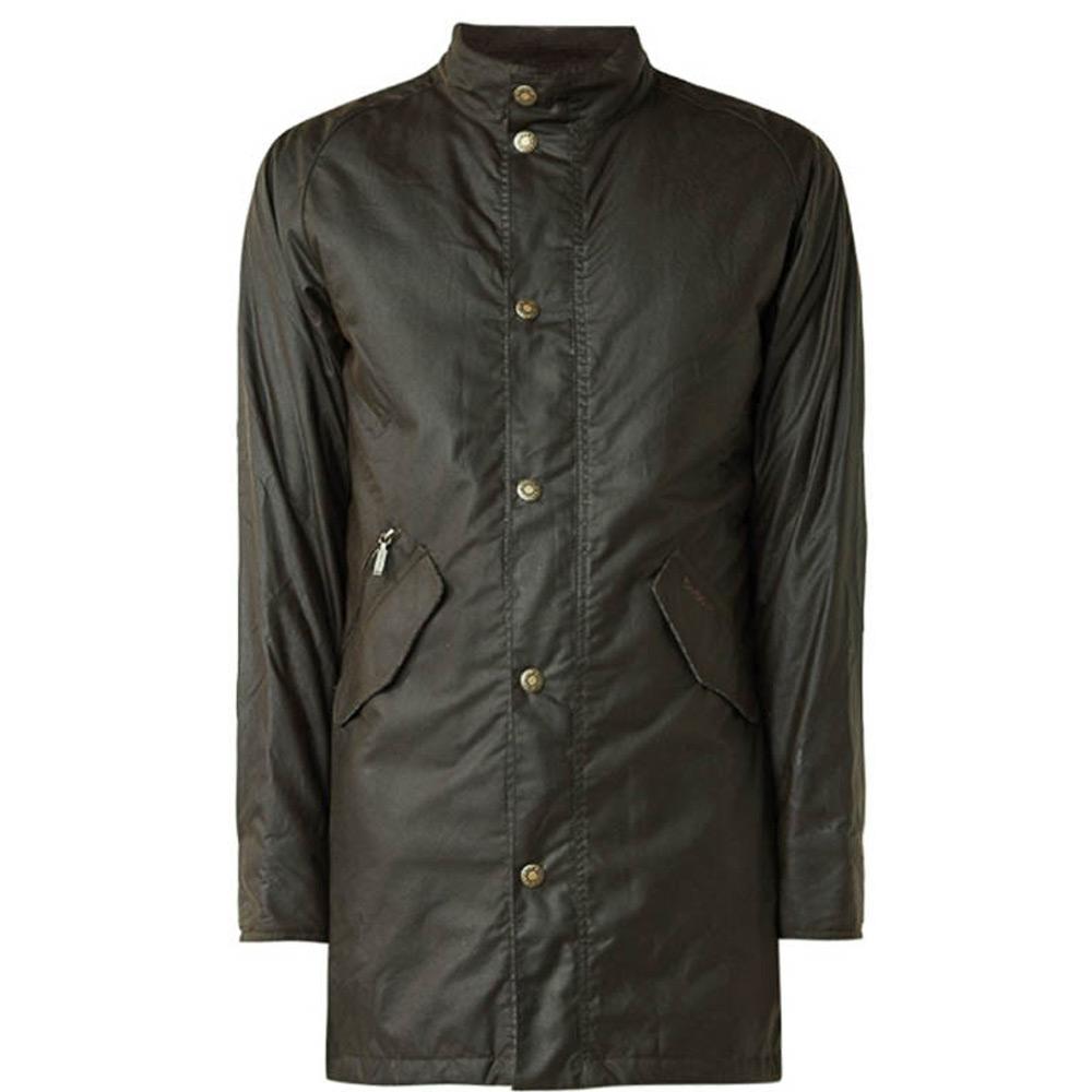 Heren waxjas Hall Jacket Olive