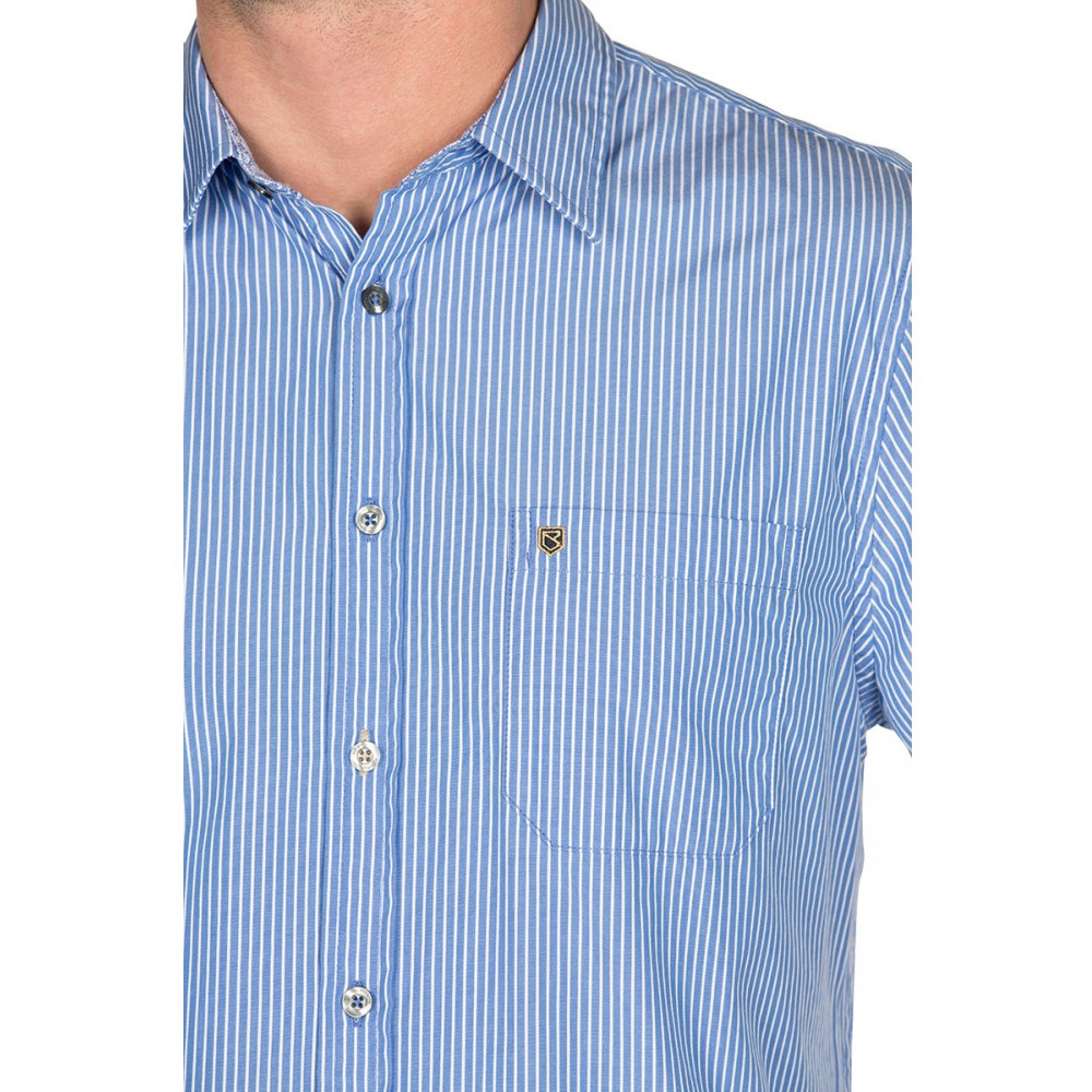 Herenblouse Castlecoote Blauw
