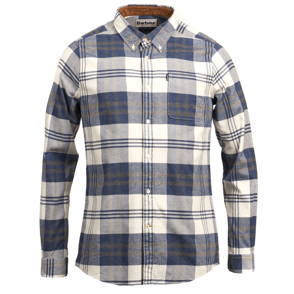 Herenblouse Endsleigh Highland Check Blauw