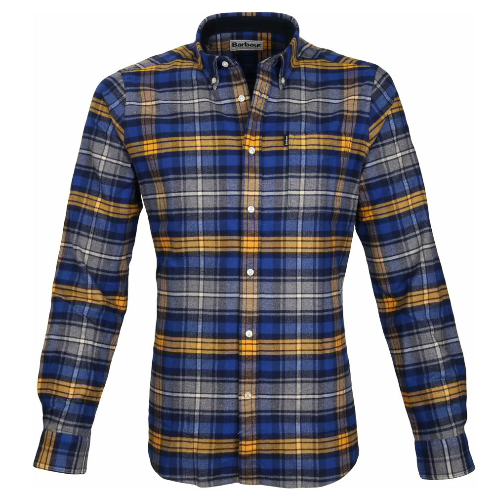 Herenblouse Endsleigh Highland Check Mustard