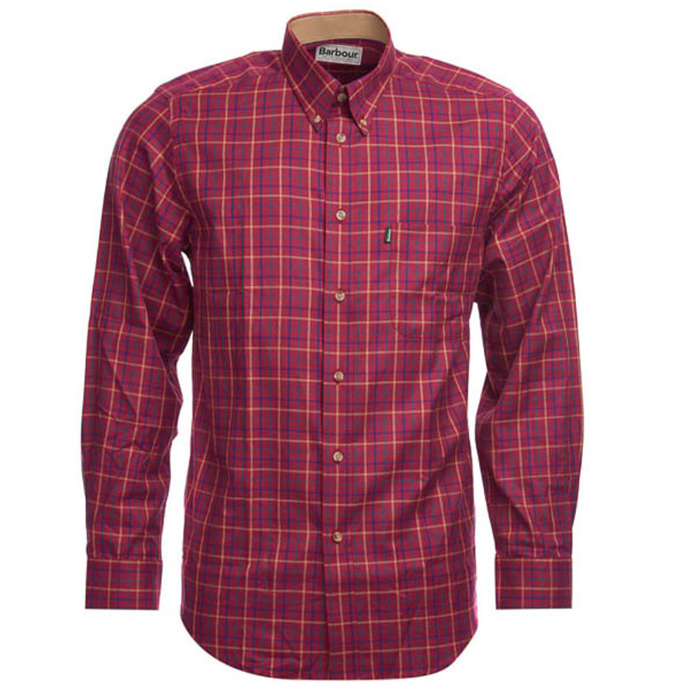 Herenblouse Sporting Tattersall Ruby
