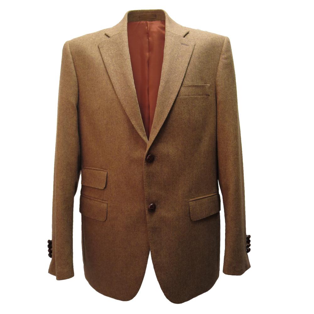 Herencolbert visgraat bruin mt 48-54